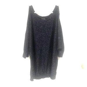 Express Open Shoulder Sparkle Sweater
